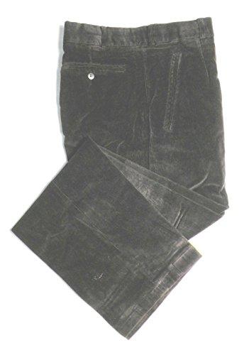 TCM Stretch Corduroy Dress Pants For Men - Flat Front, Black 36