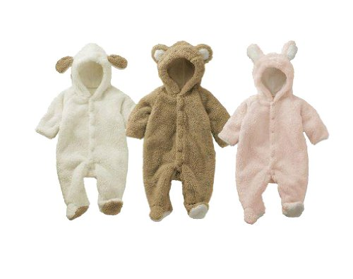 [Babytree]Winter Baby Animal Fleece Jacket /Coat /Siamese Romper H7501Coffee70 (0-6M)