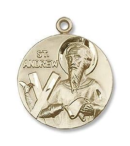 14kt Gold St. Andrew Medal