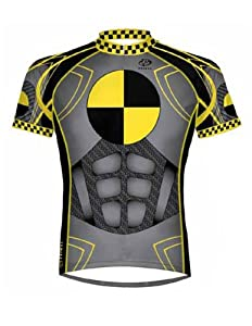Primal Wear Crash Test Dummy Cycling Jersey Mens Short Sleeve by Primal