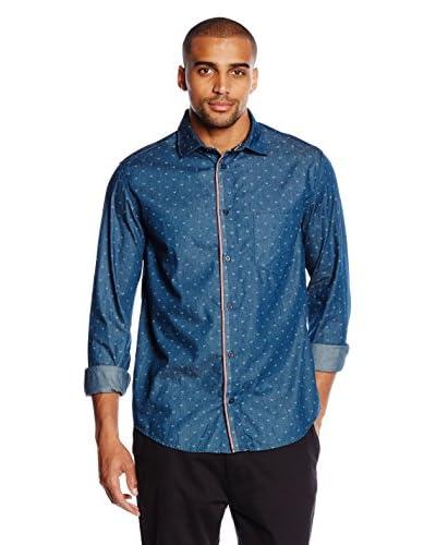 Armani Jeans Camisa Hombre Azul