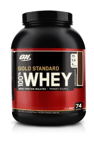 Optimum Nutrition 100% Whey Gold Standard, Double Rich Chocolate, 5 Pound