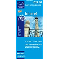 Top25 1329OT - Ile de Re Wanderkarte mit einem kostenlosen Maßstabslineal