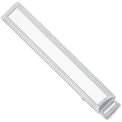 Rhodium Plated Tie Bar