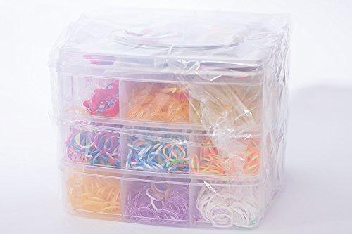 Loom Bands Loom Bandz Bänder Kit ca. 3600 Stk. bunte Gummibänder Set Webhaken TOP NEU