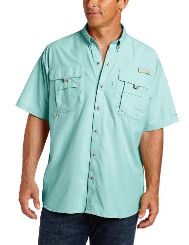 Columbia Men's Bahama II Short Sleeve Fishing Shirt (Gulf Stream, Small) (Columbia Bahama Vent Fishing Shoe compare prices)