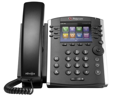 Polycom VVX410 HD Voice Media Telephone - Black images