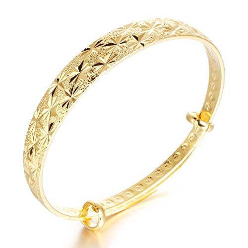fate-love-jewellery-beautiful-bride-18k-gold-plated-engraved-bangle-for-lady-adjustable-length