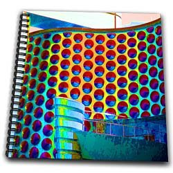A Metal, Colorful Building with enhanced colors to make it pop - Drawing Book 8 X 8 Inch