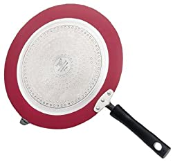 Vinod Cookware Zest Non-Stick Induction Friendly Dosa Tawa, 28cm