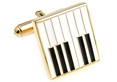 Piano Keys Cufflinks with a Presentation Gift Box