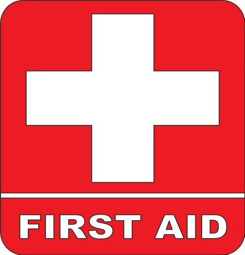 Design with Vinyl Design 102 First Aid Sticker Vinyl Wall Decal, 8-Inch By 8-Inch, Red/White (As Seen)
