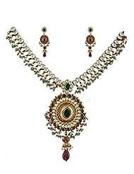 Anuradha Art Multi Colored Kundan Jewellery Set For Women