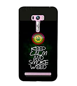 printtech Keep Calm Quotes Weed Back Case Cover for Asus Zenfone 6::Asus Zenfone 6 A600CG