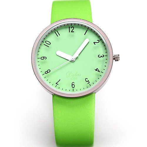 AMPM24 Fashion Women Lady Green Dial Leather Sport Quartz Wrist Watch Gift