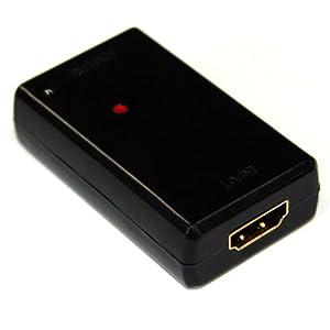 HORIC HDMIリピーター HDMIタイプA(メス)-HDMIタイプA(メス) 黒 最長40m接続可能 HDMI-E40M