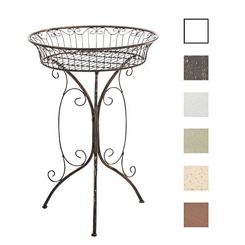 CLP-Blumentisch-Beistelltisch-MARGO-rund--40-Metall-Eisen-bis-zu-6-FARBEN-schne-Verzierungen-nostalgisches-Design-Hhe-72-cm-bronze