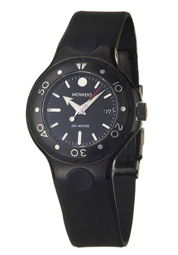 MOVADO Watch:Movado Midsize 2600045 Series 800 Black Thermoresin Strap Watch Images