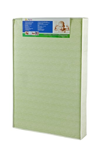 "Dream On Me 5"" Double Sided Play Yard Foam Mattress, Green - 1"