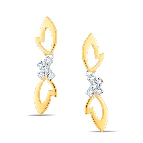 Jashn The Hyacinth Drop Earring In Sterling Silver With Swarovski Diamond # JNESC051