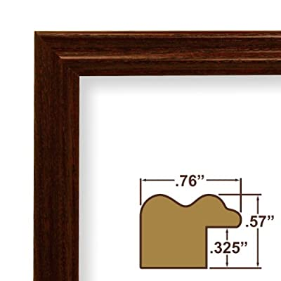 11x29 Custom Picture Frame / Poster Frame .75 Wide Complete Cherry Wood Frame (200ASHCH)