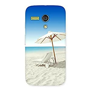 Delighted Vaccation Multicolor Back Case Cover for Moto G