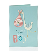 Bundle of Joy Baby Boy Greetings Card