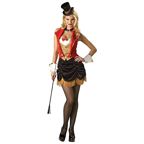 [GSG Sexy Ringmaster Costume Womens Circus Female Adult Halloween Fancy Dress] (Female Ringmaster Costume Plus Size)