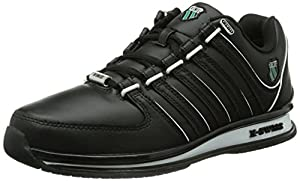 K-Swiss RINZLER SP BLACK/WHITE/EMERALD GLAZE M, Herren Sneakers, Schwarz (BLACK/WHITE/EMERALD GLAZE/028), 42 EU (8 Herren UK)