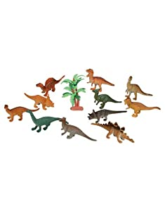 Dozen Small Toy Dinosaurs: 2 inch Plastic Toy Dino Figures from Rhode Island Novelty