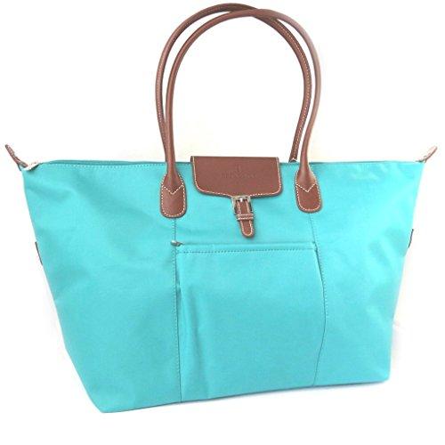 Travel bag 'Hexagona'turchese (55x32x16 centimetri).