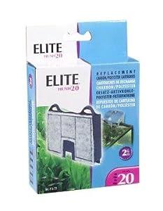Elite Carbon Cartridge for Hush 20 Power Aquarium Filter, 2-Pack