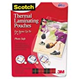 41Ln16xL68L. SL160  Scotch TP590320   Photo size thermal laminating pouches, 5 mil, 7 1/4 x 5 3/8, 20/pack MMMTP590320