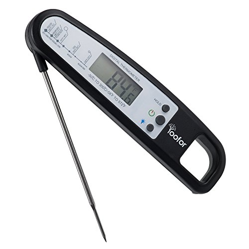 Buy Cheap Yoofor Digital Foldable Food Thermometer with Back Light, Instant Read with Extra Long Pro...