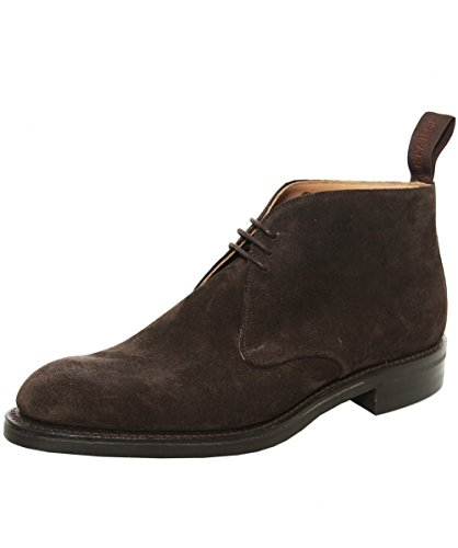 Cheaney and Sons Uomo Jackie Suede Boots 44 Marrone Scuro