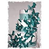 3D Butterfly Wedding Cake Topper Set Multi-Sized (36x Butterflies) ANY COLOR