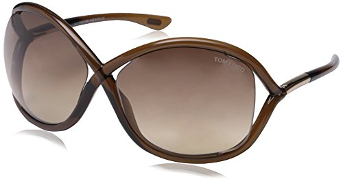 Tom Ford Women's FT0009 Sunglasses, Brown (Tom Ford Whitney Sunglasses Women compare prices)