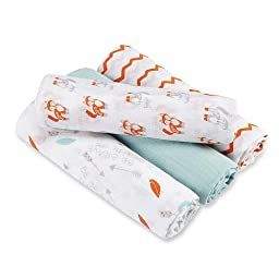aden® by aden +anais® Swaddleplus® 4 Pack - Brave Little One