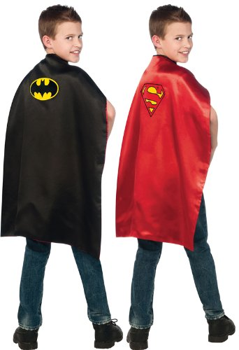 Rubie's Costume Co DC Comics, Reversible Batman and Superman Cape