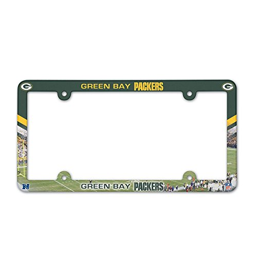 Green Bay Packers NFL Plastic License Plate Frame - 2 Pack
