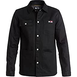 DC Mens DCBD Snap Jacket X-Large Black