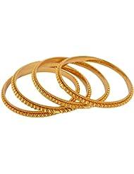 Handicraft Kottage Gold Metal Bangle Set For Women - Set Of 4 (HK-ABGM-3218)