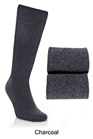 2 Pairs of Cotton Rich Freshfeet™ Long Socks with Silver Technology