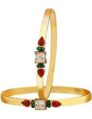 Zeneme Gold Plated Designer Bangles Jewellery For Women / Girls
