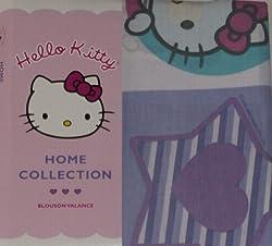 Hello Kitty Purple Blouson Window Valance Cute Cat Curtain Topper