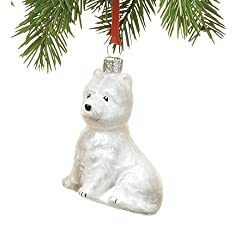 Hand-Painted Assorted Glass Dog Ornaments in Westie