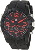 U.S. Polo Assn. Sport Mens US9236 Black Analog Digital Strap Watch