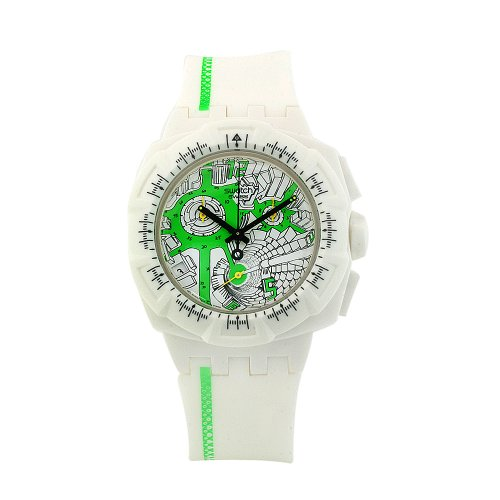 Swatch Ladies Watch Chrono Plastic 2 Street Map Green SUIW409