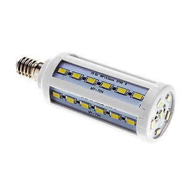 Rayshop - E14 10W 42*5730Smd 800Lm 6000-7000K Cool White Light Led Corn Bulb(220V)