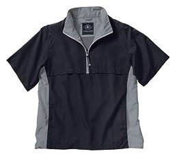 Charles River Apparel Ace Short Sleeve Windshirt, Black/Grey, 2 Extra Large